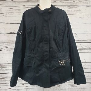 Lane Bryant Black Jacket with Embellished Pockets